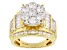 Pre-Owned Cubic Zirconia 18k gold over sterling Silver Ring 7.14ctw