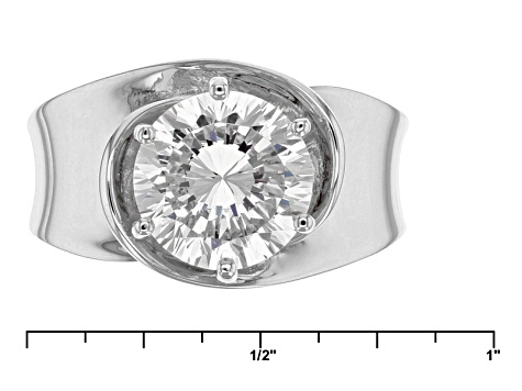 Pre-Owned Cubic Zirconia Silver Ring 4.59ct (2.75ct DEW)