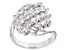 Pre-Owned White Cubic Zirconia Rhodium Over Silver Ring 2.38ctw