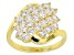 Pre-Owned White Cubic Zirconia 18k Yellow Gold Over Silver Ring 2.38ctw