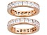 Pre-Owned Bella Luce® 5.06ctw 18k Rose Gold Over Sterling Silver Eternity Band Set Of 2