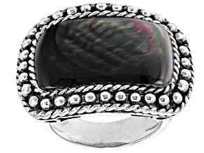 Pre-Owned Gray Mother-Of-Pearl Sterling Silver Ring