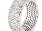 Pre-Owned White Cubic Zirconia Rhodium Over Sterling Silver Ring 3.60ctw