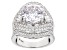 Pre-Owned Cubic Zirconia Silver Ring 15.53ctw (8.75ctw DEW)