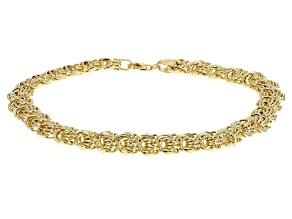 Pre-Owned 10k Yellow Gold Hollow Rosetta Link Bracelet 7.75 inch