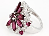 Pre-Owned Purple Rhodolite Sterling Silver Ring 5.79ctw
