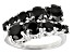Pre-Owned Black Spinel Sterling Silver Ring 3.80ctw