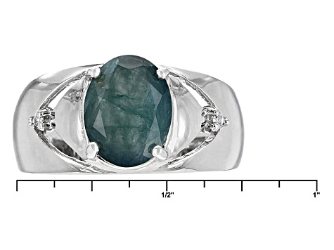 Pre-Owned Green Gradidierite Sterling Silver Ring 1.88ctw.