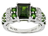 Pre-Owned Green Chrome Diopside Sterling Silver Ring 2.67ctw