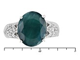 Pre-Owned Green Grandidierite Sterling Silver Ring 3.73ctw.