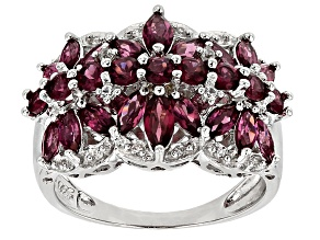 Pre-Owned Purple Garnet Sterling Silver Ring 2.62ctw