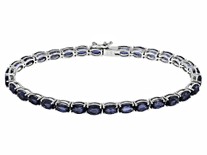 Pre-Owned Blue Kyanite Sterling Silver Tennis Bracelet 16.00ctw