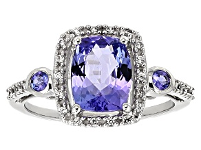 Pre-Owned Blue Tanzanite 10k white Gold Ring 2.48ctw