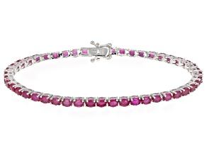 Pre-Owned Mahaleo Ruby Sterling Silver Tennis Bracelet 10.00ctw