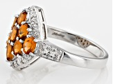 Pre-Owned Orange Mandarin Garnet Sterling Silver Ring 1.62ctw