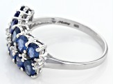 Pre-Owned Blue Kanchanaburi Sapphire Sterling Silver Ring 2.72ctw