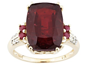 Pre-Owned Mahaleo Ruby 14k Yellow Gold Ring 10.18ctw