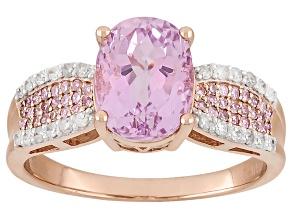 Pre-Owned Pink Kunzite 10k Rose Gold Ring 2.29ctw