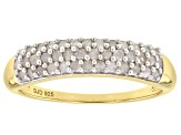 Pre-Owned White Diamond 14k Yellow Gold over Sterling Silver Ring .50ctw