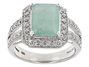 Pre-Owned Green Grandidierite Sterling Silver Ring 2.90ctw