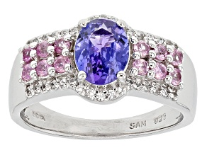 Pre-Owned Blue Tanzanite Sterling Silver Ring 1.65ctw
