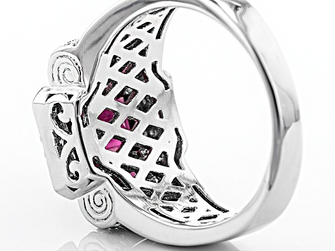Pre-Owned Purple Rhodolite Sterling Silver Ring 3.21ctw