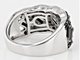 Pre-Owned Black Spinel Sterling Silver Ring 2.00ctw