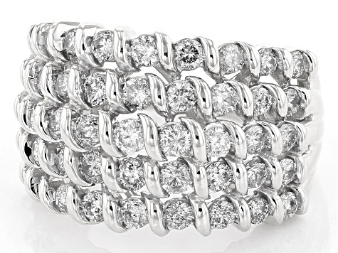 Pre-Owned White Diamond 10K White Gold Ring 2.00ctw