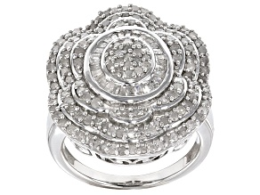 Pre-Owned Diamond Sterling Silver Ring 2.20ctw