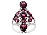 Pre-Owned Purple Rhodolite Sterling Silver Ring 5.77ctw