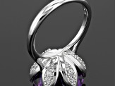 Pre-Owned Purple Moroccan Amethyst Sterling Silver Ring 7.99ctw