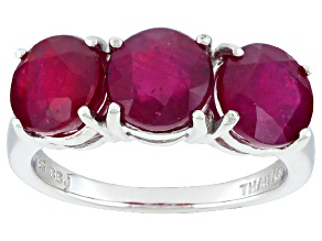 Pre-Owned Mahaleo Ruby Sterling Silver Ring 4.46ctw