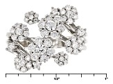 Pre-Owned White Cubic Zirconia Rhodium Over Sterling Silver Ring 1.70ctw
