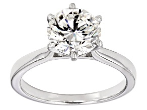 Pre-Owned Moissanite Fire® 2.70ct Diamond Equivalent Weight Round Platineve™ Solitaire Ring