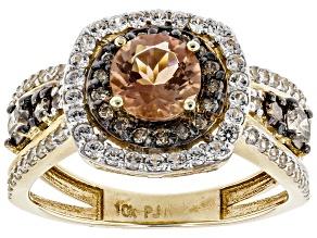 Pre-Owned Orange Oregon Sunstone 10K Yellow Gold Ring  1.54ctw
