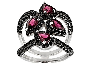 Pre-Owned Purple Rhodolite Sterling Silver Ring 3.23ctw