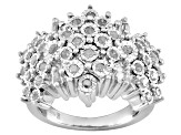 Pre-Owned Diamond Rhodium Over Silver Ring .75ctw