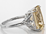 Pre-Owned Yellow Labradorite Sterling Silver Ring 5.36ctw