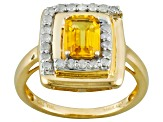 Pre-Owned Yellow Sapphire 10k Yellow Gold Ring 1.13ctw