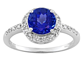 Pre-Owned Blue tanzanite 14k white gold ring 1.59ctw
