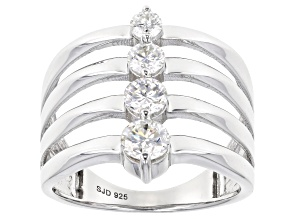 Pre-Owned Moissanite Platineve™ Ring .82ctw DEW