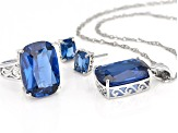 Pre-Owned Blue Spinel Sterling Silver Boxed Set 38.00ctw