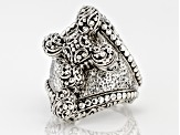 Pre-Owned Sterling Silver Cross Ring