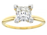 Pre-Owned Moissanite Fire® 2.10ct Diamond Equivalent Weight Square Brilliant 14k Yg Solitaire Ring