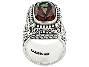 Pre-Owned Hayward's Muse™ Mystic Quartz® Silver Ring 5.28ctw
