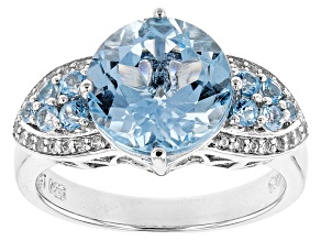 Pre-Owned Sky Blue Topaz Sterling Silver Ring 4.30ctw
