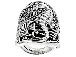 Pre-Owned Sterling Silver Seahorse Ring