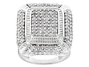 Pre-Owned Diamond Rhodium Over Brass Ring 2.00ctw