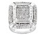 Pre-Owned Diamond Rhodium Over Brass Ring 2.00ctw
