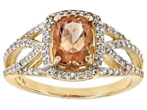 Pre-Owned Peach Oregon Sunstone 10k Yellow Gold Ring 1.63ctw